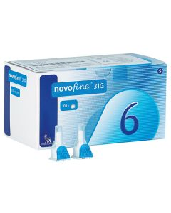 Novofine Penkanülen, 31G - 0,25 x 6 mm, 100 Stück
