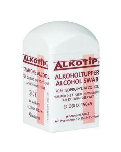 Alkotip® Alkoholtupfer 44 x 44 mm, 150 Stück in Dispenserdose