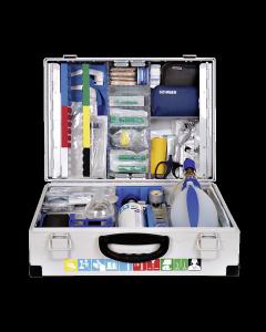 Notfallkoffer Clinomed nach DIN 13232 gefüllt für Erwachsene + O2
