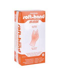 Soft-Hand HI-RISK Schutzhandschuhe, puderfrei, 50 Stück, verschiedene Größen