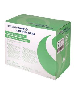 Sempermed Derma Plus Latex OP Handschuhe, gepudert, 50 Paar, verschiedene Größen