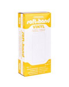 Soft-Hand Vinyl Handschuhe, puderfrei, 100 Stück, verschiedene Größen