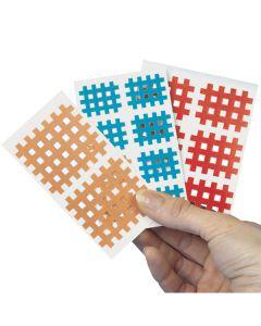 AQ-Strip Kinesio Gittertape Größe A, 20x 9 Strips, verschiedene Farben