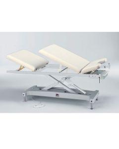 Höhenverstellbare Untersuchungsliege classic (elektromotorisch), Rücken-, Kopf- und Sitzteil verstellbar, Bezug: verschiedene Größen