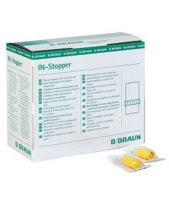 B.Braun In- Stopper Verschlusskappen / Verschlussstopfen für Luer-Lock Ansätze mit Einspritzvorrichtung, gelb