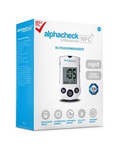 Blutzuckermessgerät alphacheck professional NFC Set mg/dl