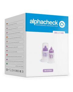 Alphacheck professional Pen-Nadeln PLUS 30 G x 5 mm, 100 Stück