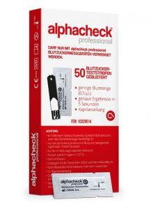 Alphacheck professional Teststreifen einzeln geblistert, 50 Stück