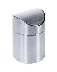 Tischabfallbehälter aus Edelstahl mit Schwenkdeckel, 0,6 Liter