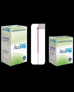 Akupunkturnadeln AcuTop® Kupfergriff Typ CBs, unbeschichtet, verschiedene Größen, 100 Stück