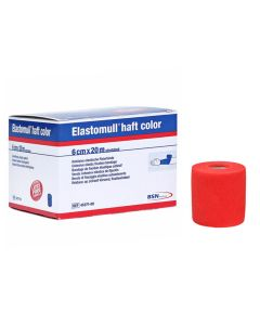 Elastomull® haft color latexfreie Fixierbinde, rot, 1 Stück, verschiedene Größen