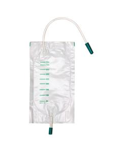 DCT Urin Beinbeutel unsteril 750 ml mit Schlauch, seitl. Einlass ohne Ablauf, 10 Stück