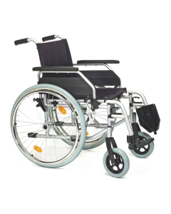 Rollstuhl Servomobil aus Stahl, 48-50 cm Sitzbreite