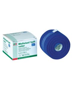 Mollelast® haft color latexfreie Fixierbinde, blau, verschiedene Größen und Mengen