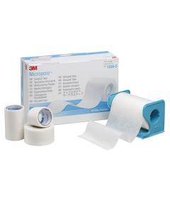 Fixierpflaster 3M Micropore mit Abroller, verschiedene Größen, weiß, 1 Stück