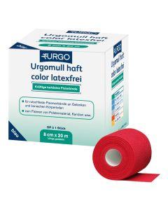 Urgomull haft color Fixierbinde latexfrei, rot, 1 Stück, verschiedene Größen