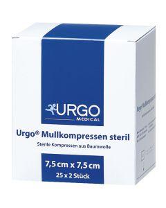 Urgo Mullkompressen steril, 50 Stück, verschiedene Größen