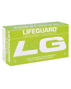 Lifeguard Latex Handschuhe, gepudert, 100 Stück, verschiedene Größen