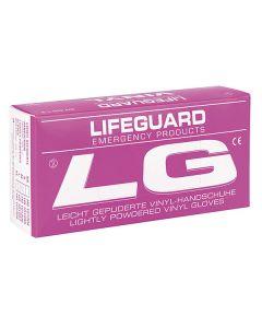 Lifeguard Vinyl Handschuhe, gepudert, 100 Stück, verschiedene Größen