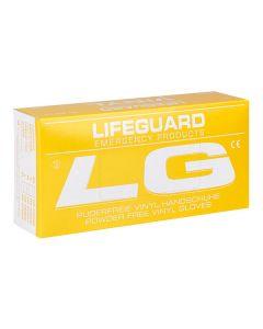 Lifeguard Vinyl Handschuhe, puderfrei, 100 Stück, verschiedene Größen