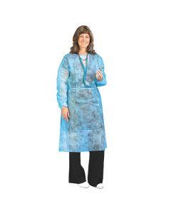 Einmal Arbeitskittel, Vliesstoff, langarm mit elastischem Ärmelbund, blau, 10 Stück