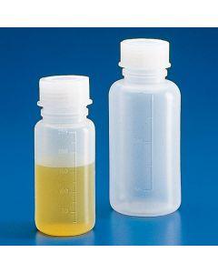 Graduierte Weithalsflasche, Polyethylen, 100ml