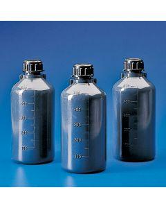 Dunkelgraue Enghalsflasche, 125ml