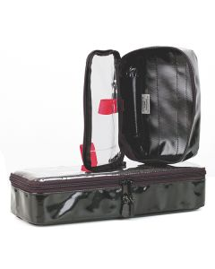 Lifebox Retainer Modultasche, schwarz, leer, verschiedene Größen