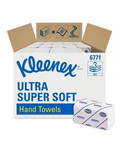 Einmalhandtücher Kleenex® Ultra Super-Soft, 3-lagig, 21,5 x 31,5 cm, 2880 Stück