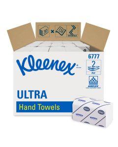 Einmalhandtücher Kleenex® Ultra, 2-lagig, 21,5 x 31,5 cm, 3720 Stück