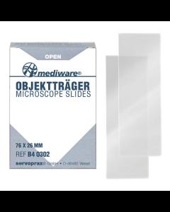 Objektträger Mediware ohne Mattrand 76 x 26 mm, 50 Stück