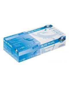 Unigloves Blue Pearl Nitril Handschuhe, puderfrei, 100 Stück, verschiedene Größen