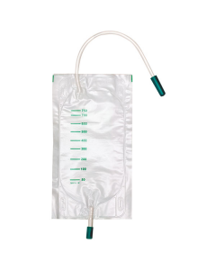 DCT Urin Beinbeutel unsteril 750 ml mit Schlauch, seitl. Einlass, 10 Stück