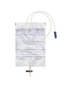 DCT Urinbeutel 2 Liter mit T-Tab-Abflusshahn und Rücklaufventil steril, 1 Stück