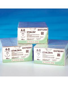 Nahtmaterial Ethicon Ethilon FS2, schwarz monofil, verschiedene Größen, 0,45 m , 36 Stück