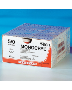 Nahtmaterial Monocryl resorbierbar, ungefärbt monofil, 0,45 m , 36 Stück