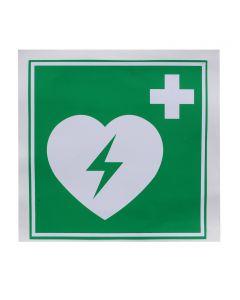 Defibtech AED Kunststoff-Schild, 15 x 15 cm