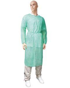 Vlies-Infektionsschutzkittel grün XL, 10 Stück