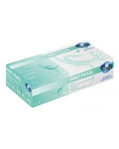 Unigloves Mint Pearl Nitril Handschuhe, puderfrei, 100 Stück, verschiedene Größen